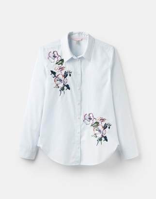 Joules 204518 Long Line Embroidered Shirt