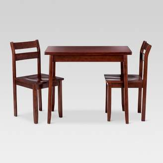 Threshold Expandable 3pc Dining Set with Storage - Dark Tobacco