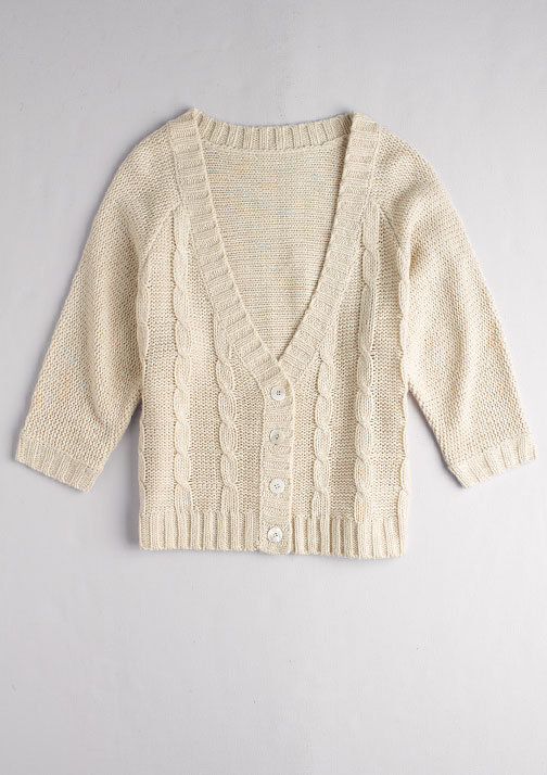 Boxy Cable Cardigan
