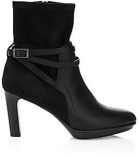 Aquatalia Women's Ryann Strappy Suede & Leather Booties