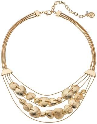 Dana Buchman Textured Disc Swag Necklace