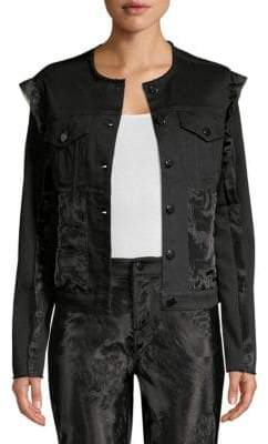 J Brand Slim-Fit Organza Denim Jacket