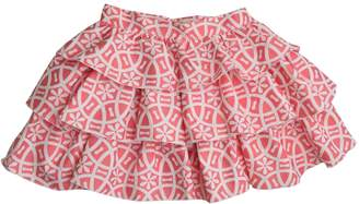 cesar blanco Coral & White Skirt