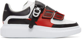 Alexander McQueen White and Black Multi Flap Tab Oversized Sneakers
