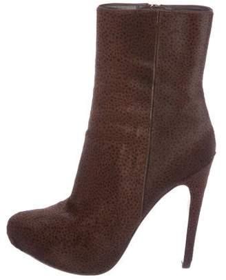 Prada Pony Hair Pointed-Toe Boots