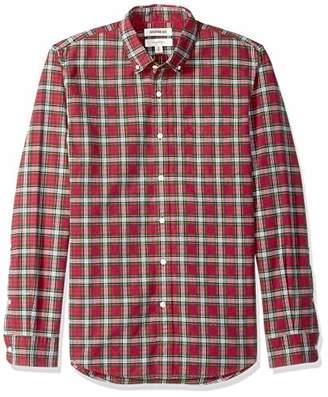 Goodthreads Men's Slim-Fit Long-Sleeve Small Tartan Oxford Shirt