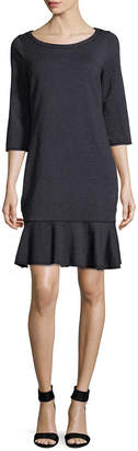Three Dots Flounce Sheath Dress