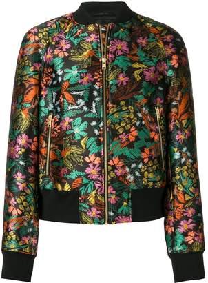 Escada Sport tropical print bomber jacket