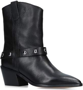 Carvela Leather Sage Western Calf Boots 60