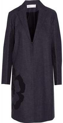 Victoria Beckham Victoria Appliquéd Cotton-Chambray Coat