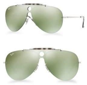 Ray-Ban Blaze Shooter Mirrored Aviator Sunglasses