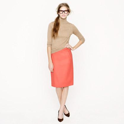 J.Crew Petite sterling skirt in double-serge wool