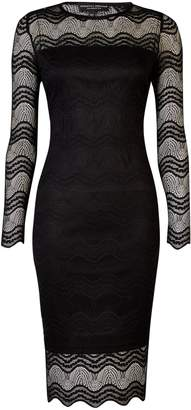 Dorothy Perkins Womens **Black Lace Bodycon Dress
