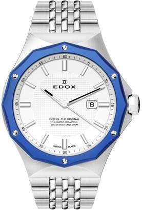 Edox Watches Women's Delfin 3-Hand Swiss Quartz Bracelet Watch, 35mm