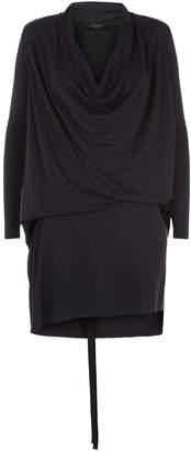 AllSaints Amei Draped Dress