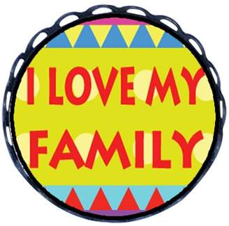 GiftJewelryShop Ancient Style I Love My Family Round Pin Brooch