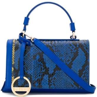 Emilio Pucci Blue And Yellow Elaphe Pilot Bag