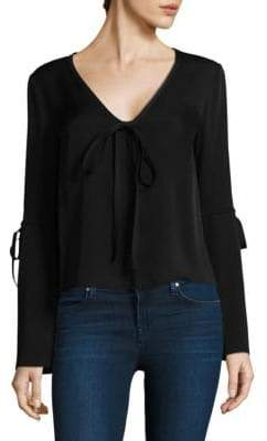 Milly Maggie Silk Bow Top