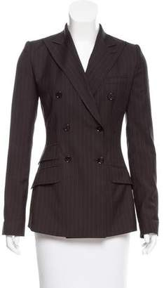 Dolce & Gabbana Peak-Lapel Striped Blazer