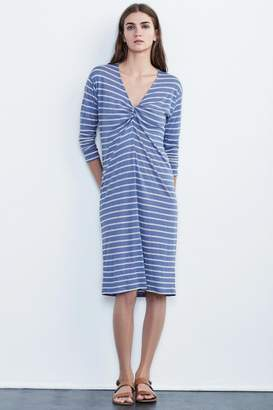 Velvet by Graham & Spencer ASHLEIGH MODAL KNIT STRIPE KNOT DRESS