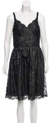 Anna Sui Lace Knee-Length Dress