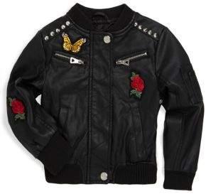 Urban Republic Little Girl's Patch Bomber Jacket