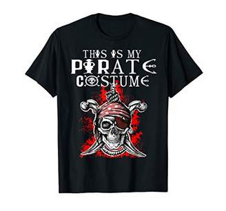 Funny This Is My Pirate Scull Halloween Costume Gift T-Shirt