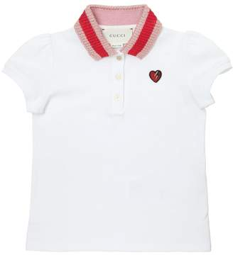 Gucci Stretch Cotton Piqué Polo Shirt