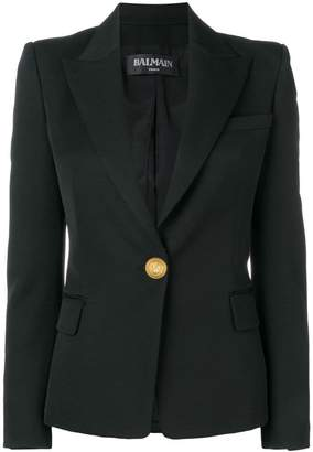 Balmain single breasted coat