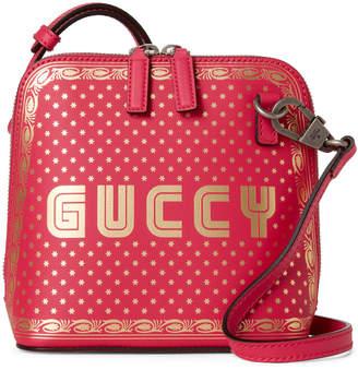 3c47c6800736 Gucci Pink Guccy Mini Leather Crossbody