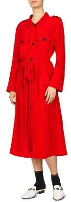 The Kooples Army Silk Coat Dress