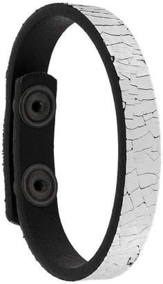 Diesel crackle effect cuff bracelet