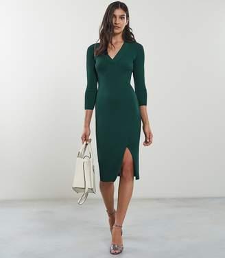Reiss Aletti V-Neck Knitted Dress