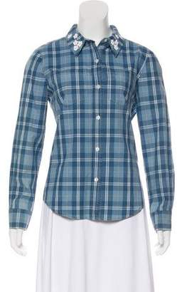 Draper James Plaid Button-Up Top