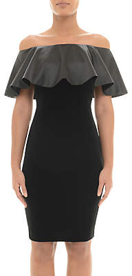 Adrianna Papell Off Shoulder Velvet Dress, Black