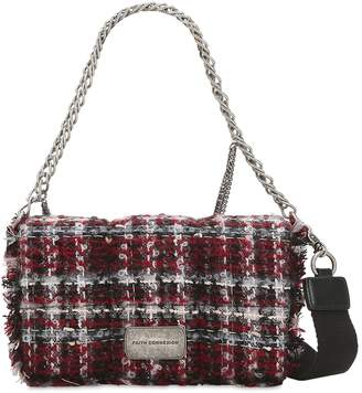 Faith Connexion Embellished Lurex Tweed Shoulder Bag