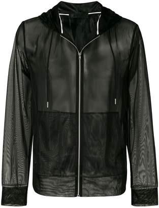 Helmut Lang sheer mesh zip hoodie