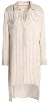 Halston Embellished Crepe Mini Dress