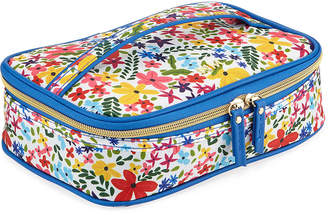 Neiman Marcus Floral-Print Carry All Zip Case