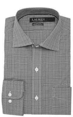 Lauren Ralph Lauren Classic-Fit Non-Iron Stretch Glen Plaid Dress Shirt