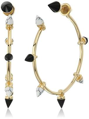 Noir Martine Hoop Earrings