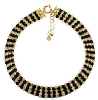 "Arte D'oro Arte d'Oro 18"" Bold Faceted Gemstone Filigree Necklace, 18K"