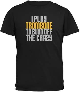 Old Glory Play Trombone Burn Crazy Mens T Shirt MD