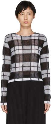McQ Black Sheer Check Jumper Sweater