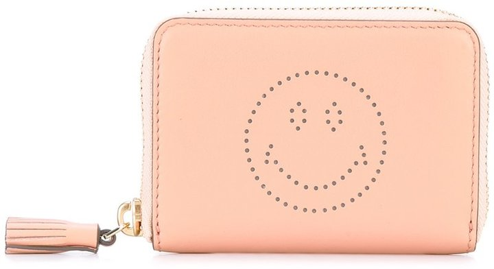 Anya Hindmarch Anya Hindmarch perforated smiley wallet