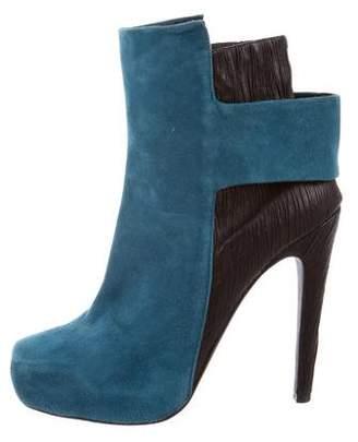 Aperlaï Suede Platform Ankle Boots