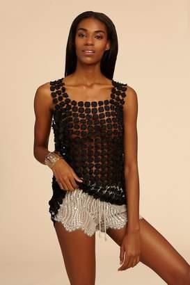 Miguelina Minnie Metallic Chantilly Lace Short