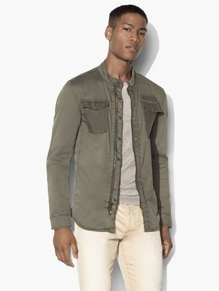 Military Shirt Jacket $298 thestylecure.com