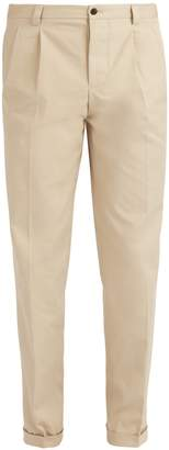 Burberry Mid-rise straight-leg cotton trousers