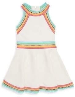 Milly Minis Toddler's, Little Girl's& Girl's Multicolor-Trimmed Flare Dress